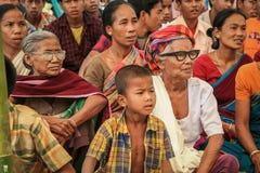 Mujeres indias y muchacho joven de Tripura foto de archivo libre de regalías
