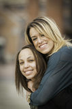 Mujeres interraciales felices Imagen de archivo