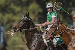 Mujeres Irlanda de los caballos del mundial de PoloCrosse Imagen de archivo