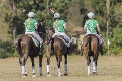 Mujeres Irlanda de los jinetes del caballo de PoloCrosse Fotografía de archivo