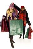 Mujeres jovenes de las compras Fotografía de archivo