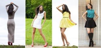 Mujeres jovenes del collage en vestido sexy foto de archivo libre de regalías