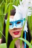 Mujeres jovenes en máscara Foto de archivo libre de regalías