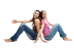Mujeres jovenes felices Imágenes de archivo libres de regalías