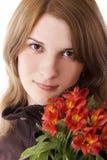Mujeres jovenes hermosas aisladas Imágenes de archivo libres de regalías
