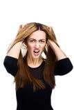 Mujeres jovenes que parecen enojadas Fotografía de archivo libre de regalías