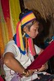 Mujeres largas de la colina-tribu del cuello Foto de archivo