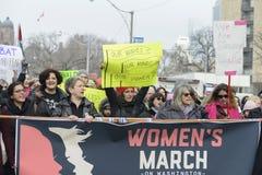 Mujeres marzo en Toronto Imagen de archivo libre de regalías