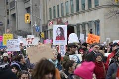 Mujeres marzo en Toronto Foto de archivo libre de regalías