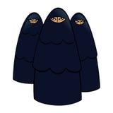 Mujeres musulmanes stock de ilustración