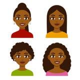 Mujeres negras fijadas stock de ilustración