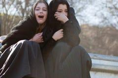 Mujeres que lloran en Jesús. Foto de archivo libre de regalías