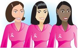 Mujeres rosadas 1 del cáncer Imagen de archivo libre de regalías