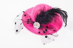 Mujeres rosadas del sombrero del partido foto de archivo libre de regalías