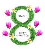 Mujeres ` s día 8 de marzo internacional foto de archivo libre de regalías