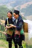 Mujeres sonrientes de Hmong imágenes de archivo libres de regalías