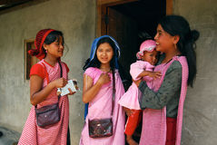 Mujeres tribales de Khasi en la India de nordeste Foto de archivo