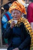 Mujeres tribales PA-o en el Estado de Shan, Myanmar Foto de archivo libre de regalías