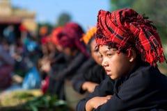 Mujeres tribales PA-o en el Estado de Shan, Myanmar Imagen de archivo