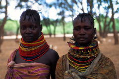 Mujeres Turkana (Kenia) Foto de archivo
