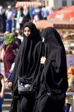 Mujeres veladas musulmanes imagen de archivo