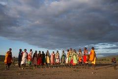Mujeres y niños de Masaii Foto de archivo libre de regalías