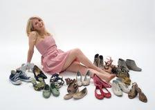Mujeres y zapatos Foto de archivo libre de regalías