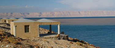 Mujib chalets. Amazing place on the coast of the dead sea Stock Photography