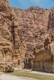 Mujib Jordanie d'oued de canyon Photographie stock