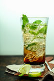 Mujito rum cocktail with lime Stock Photo