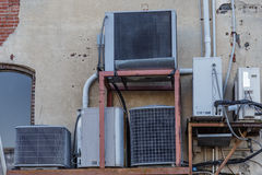 Mujltiple HVAC Units Royalty Free Stock Photography