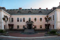 Mukacheve, Ουκρανία - 8 Μαΐου 2015: Παλάτι των πριγκήπων του Λευκού Οίκου ` Rakotsi ` Στοκ εικόνα με δικαίωμα ελεύθερης χρήσης