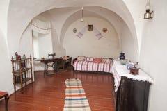 Mukacheve -乌克兰, 2009年7月26日:Palanok城堡XI世纪内部  免版税库存照片
