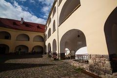 Mukacheve -乌克兰, 2009年7月26日:Palanok城堡XI世纪 免版税图库摄影