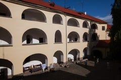 Mukacheve -乌克兰, 2009年7月26日:Palanok城堡XI世纪 库存照片