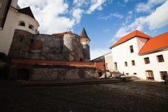 Mukacheve -乌克兰, 2009年7月26日:Palanok城堡XI世纪 免版税库存照片