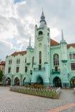 MUKACHEVE, UCRÂNIA - 25 DE ABRIL DE 2017: Câmara municipal de Mukacheve Foto de Stock