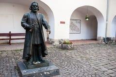 Mukacheve, Ukraine - 8 mai 2015 : Monument à prince Fyodor Koryatovich Image stock