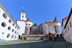 Mukachevo castle Royalty Free Stock Image