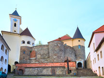 Mukachevo castle view (Ukraine) Stock Photos
