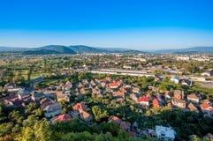 Mukachevo, Ukraine. Aerial view of Mukachevo, Ukraine Stock Image
