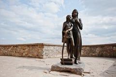 MUKACHEVO,UKRAINE - APRIL 11,2016: Monument of Ilona Zrinyi and Stock Photo
