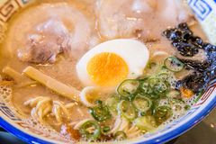 Mukashi chashu ramen with boiled egg in Kurume Royalty Free Stock Image