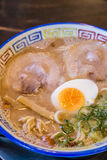 Mukashi chashu ramen with boiled egg in Kurume Stock Photo
