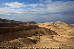 Mukawir - όψη στην κοιλάδα της Ιορδανίας από το κάστρο Herod βασιλιάδων - Ιορδανία Στοκ Εικόνες