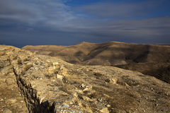 Mukawir - path up the mountain to King Herod castle - Jordan Royalty Free Stock Photography