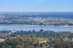 Mukdahan的,泰国湄公河 免版税库存图片