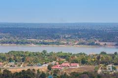 Mukdahan的,泰国湄公河 库存图片