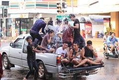 MUKDAHAN ΤΑΪΛΑΝΔΗ 13 ΑΠΡΙΛΊΟΥ: Φεστιβάλ Songkran Mukdahan Ξένο τ Στοκ Εικόνες