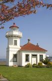 Mukelteo Lighthouse Building Maple Tree Vertical Royalty Free Stock Photo